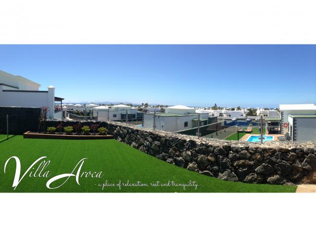 garden views to Fuertaventura and Lobos  - Villa Aroca, Playa Blanca, Lanzarote