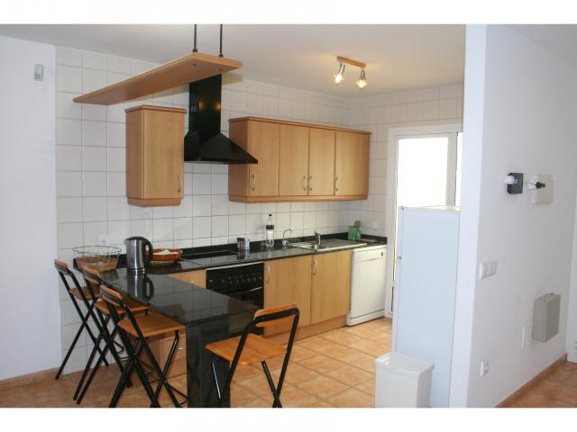 Kitchen, dishwasher, W/Machine,solana! - 3 bed villa Los Coloradas, Playa Blanca, Lanzarote