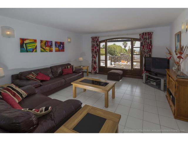 "The lounge with 50"" TV - Villa Charlotte, Playa Blanca, Lanzarote"